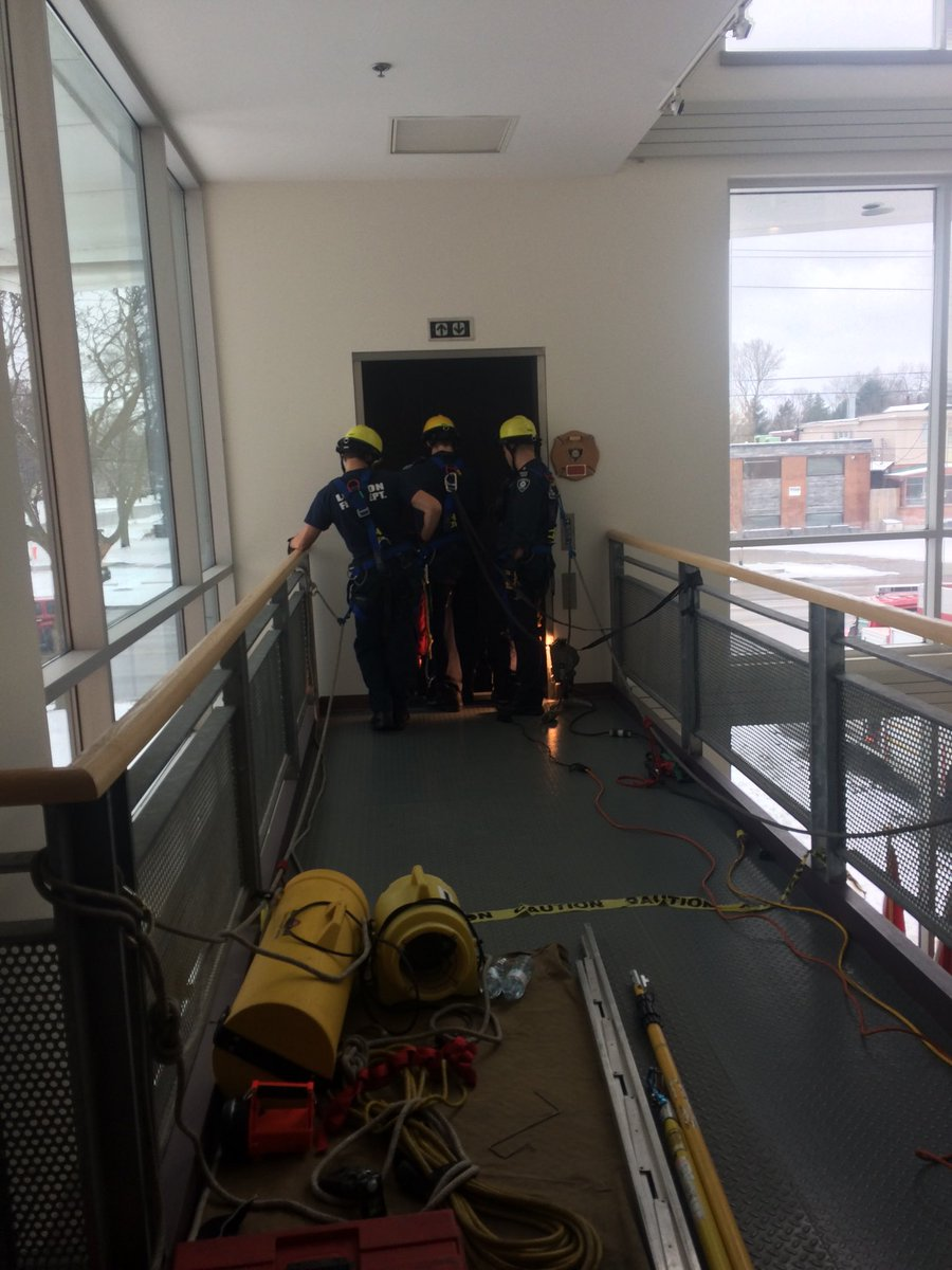 Fire Fighters doing elevator training at HQ
