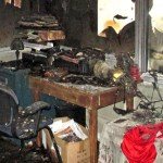 Contents of a burned out home
