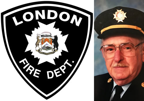 Defib donation in memory of LFD Les Eaid
