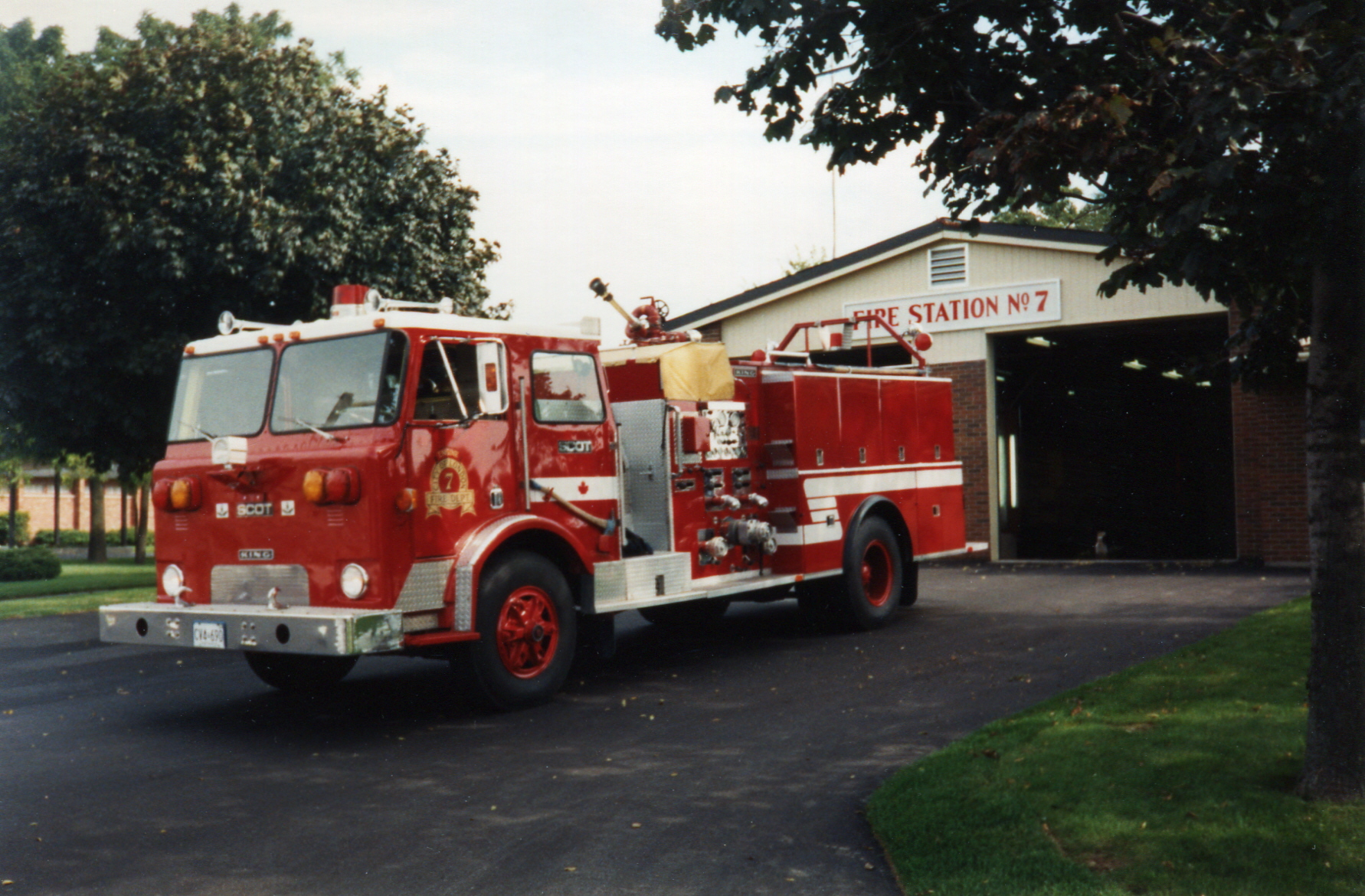 Engine 7 with new paint
