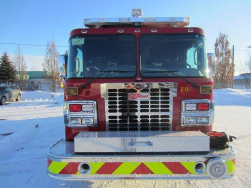 Front photo of new Rescue Pumper