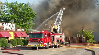 (Hooks Restaurant Fire, May 29, 2018. Courtesy: R. Loiselle)