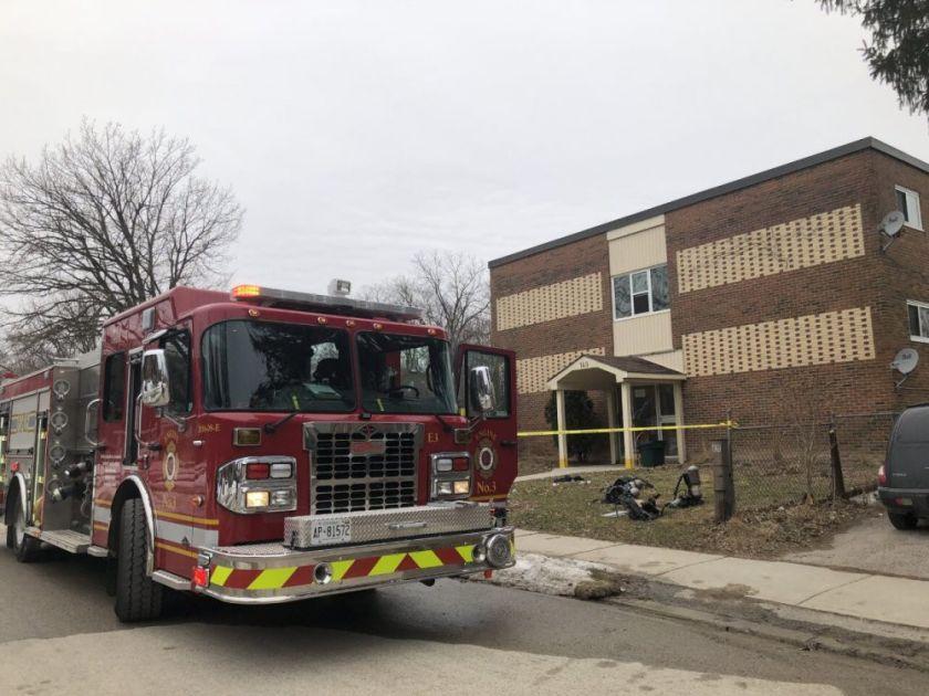 Engine 3 parked near fire scene