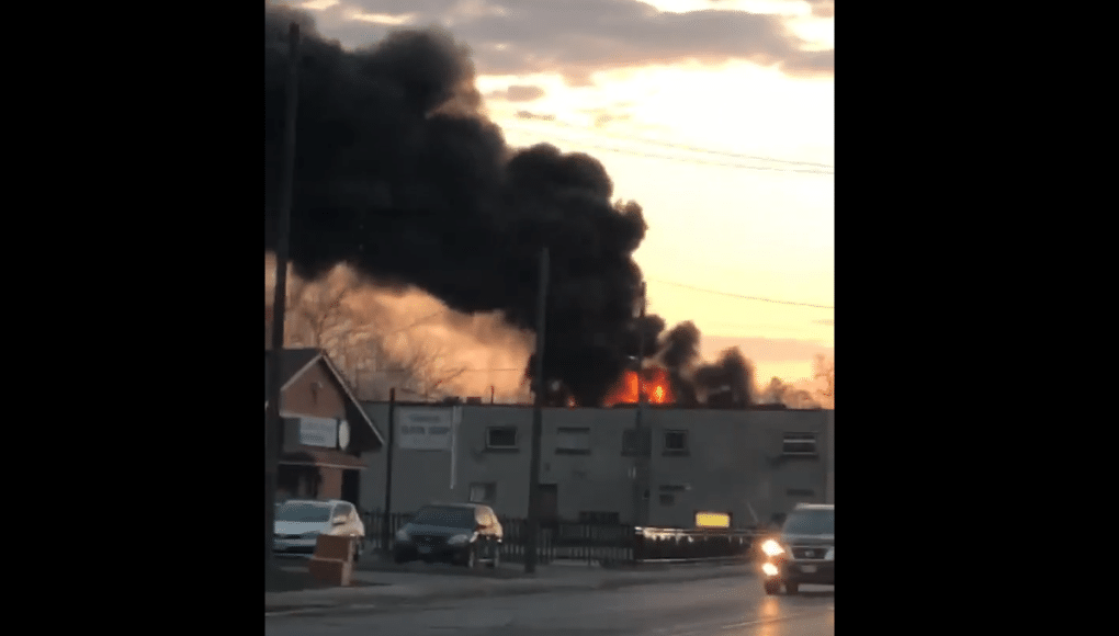 Two sent to hospital including firefighter after morning fire