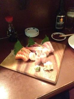 Akari's sashimi platter