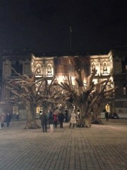 Ai Weiwei tree installation at the Royal Academy of Arts.
