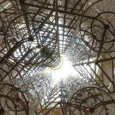 Bicycle chandelier by Ai Weiwei. Stunning.