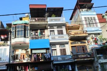 More facades of city buildings