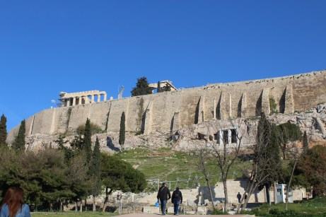 From the base of the acropolis