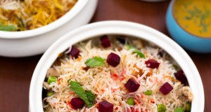 Weeknight Mindful Eating, Veggie Beetroot Pulao