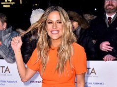 Caroline Flack presents for ITV's Love Island