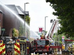 London Fire Brigade shut down an fire at The Mall on Seaborne Walk.