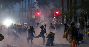 Hong Kong protesters get tear gassed