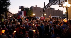Vigil made for victims of Dayton, Ohio mass shooting.