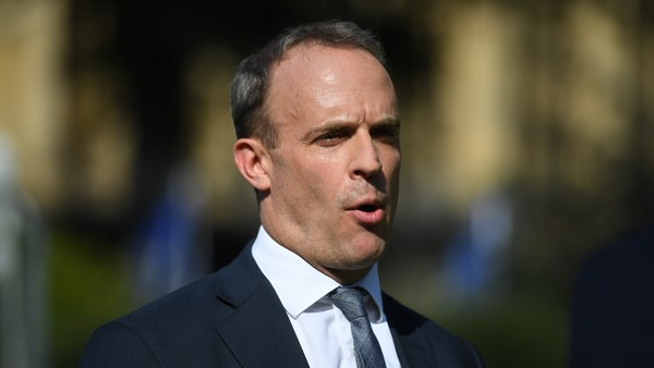 Dominic Raab denies the government is under the grip of a The Kremlin