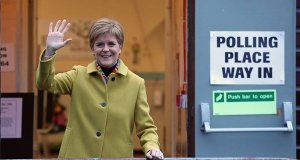 Nicola Sturgeon heads to the polls in Scotland