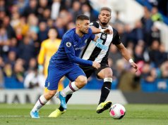 Mateo Kovacic battling with Newcastle United