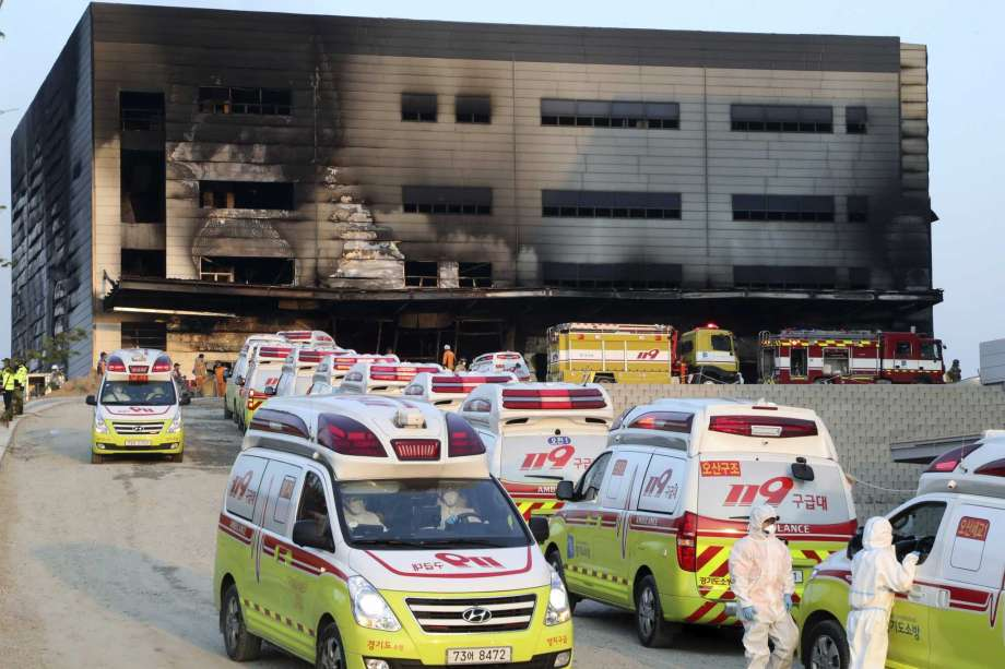 South Korean Fire kills some