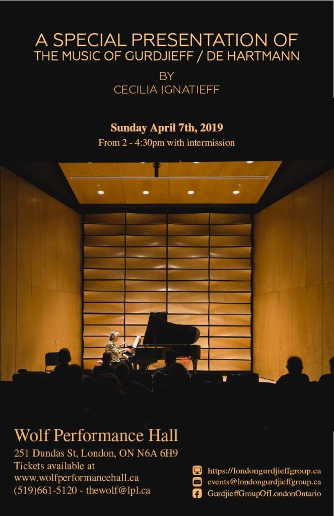 A Special Presentation of the music of Gurdjieff / De Hartmann