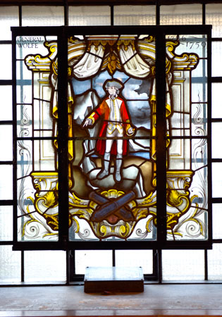 General Wolfe window at St. Alfege Church, Greenwich (Courtesy of St. Alfege)