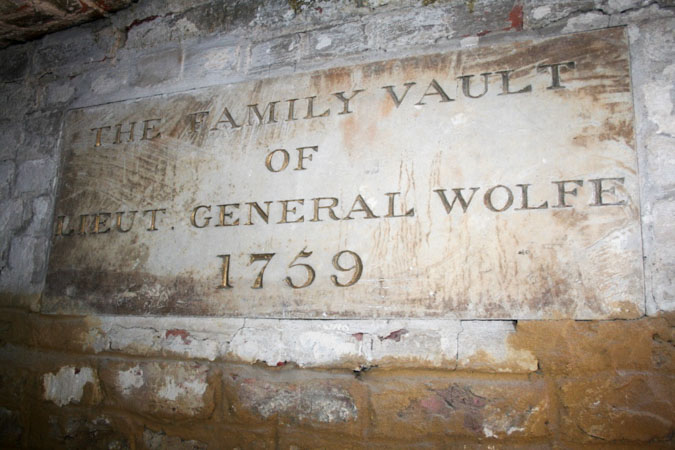 Wolfe family vault at St. Alfege Church, Greenwich (Courtesy of St. Alfege)