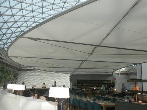 The new Great Court Restaurant