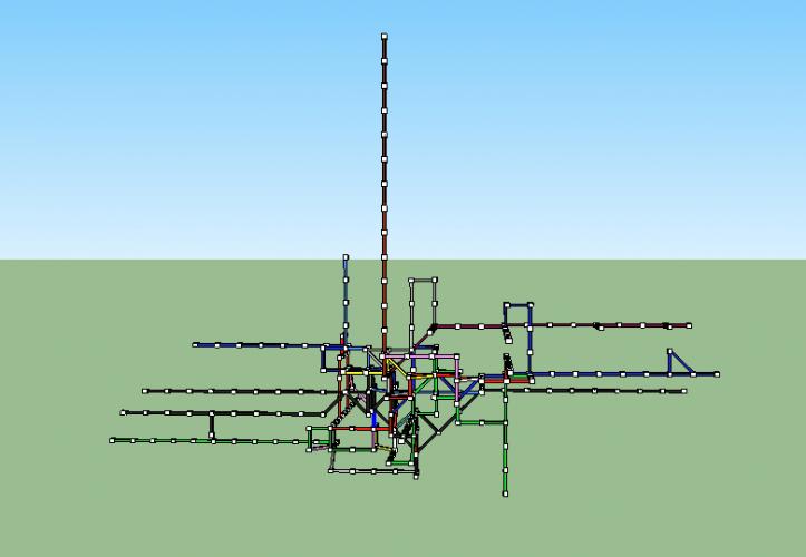 Art in London Tube Maps - 3D