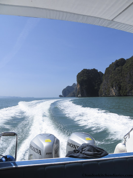 View of the sea from boat in Thailand