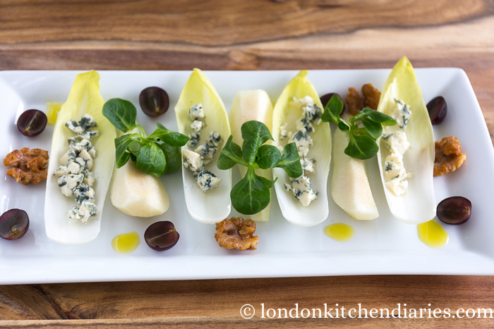 Chicory, pear & blue cheese starter-96