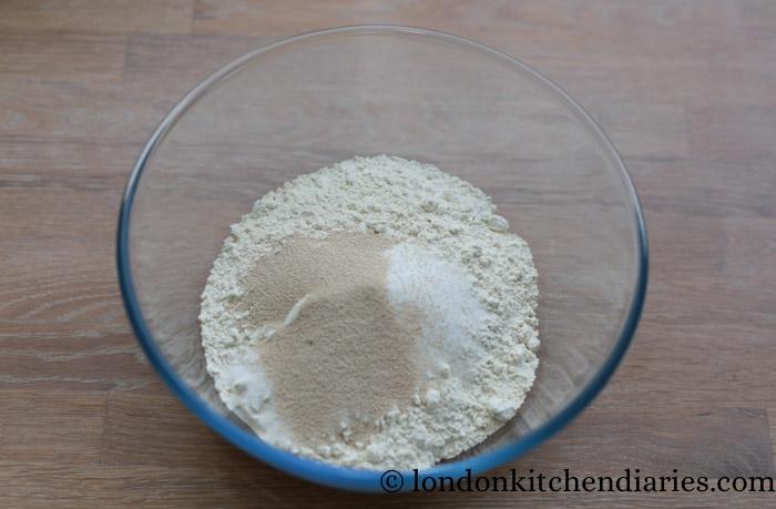 Dry ingredients for Vanilla Custard Slices