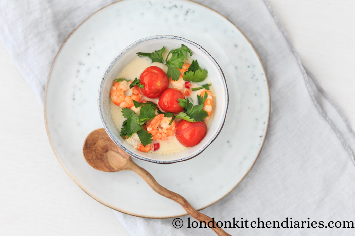 Easy Thai Coconut Soup with King Prawns