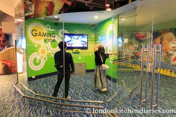 xbox kinetic room at Changi Singapore airport