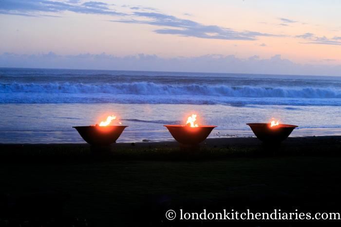Fire Bowls at Alila Villas Soori in Bali