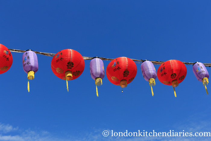 Paper lanterns in Chinatown in Singapore