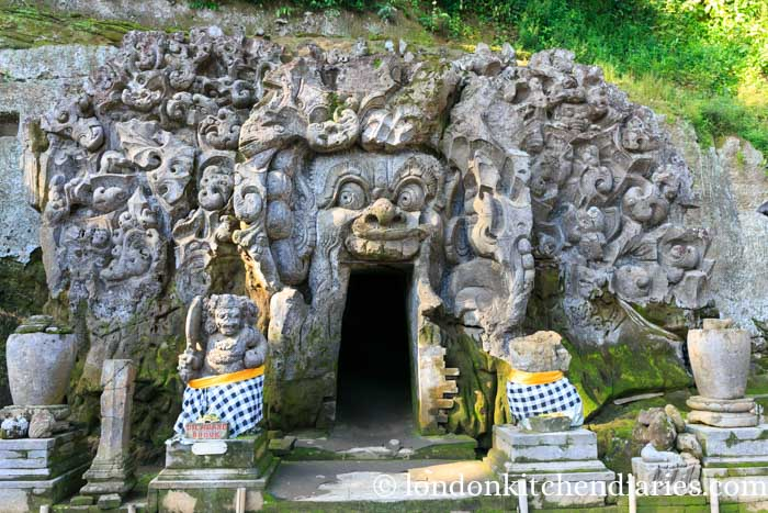 Rock entrance to Goa Gajah 'Elephant Cave' in Bali