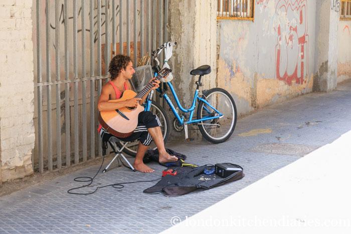 Street musician in Jaffa Israel