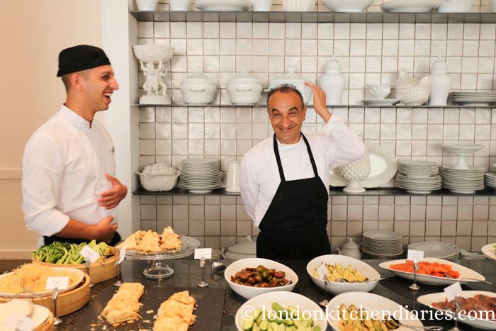 Fun breakfast staff at Mamilla Hotel Jerusalem