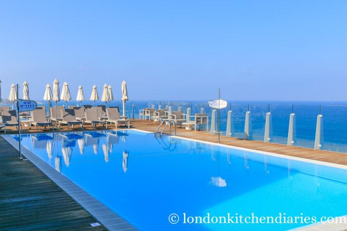 Rooftop pool at the Carlton in Tel Aviv Israel