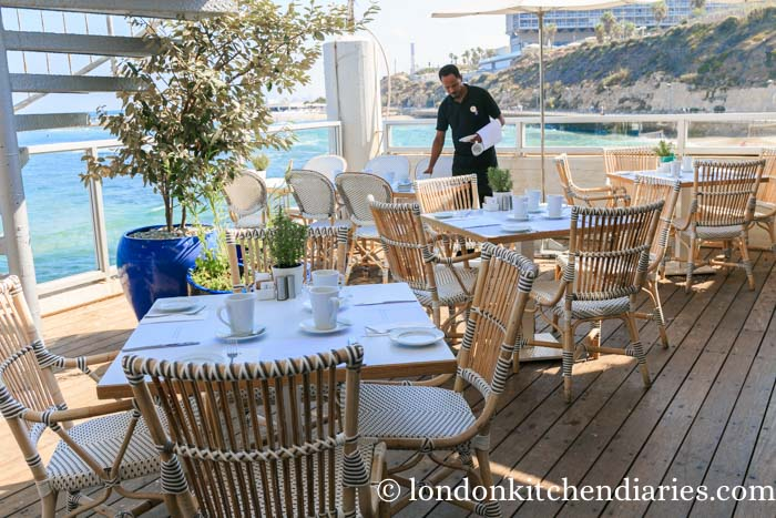 Breakfast deck right by the sea at the Carlton Tel Aviv