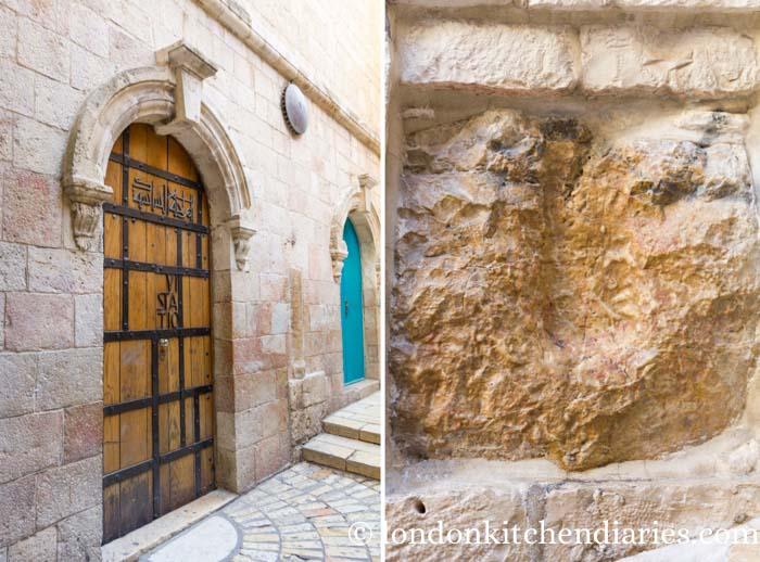 Station V and VI on Via Dolorosa Jerusalem