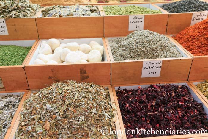 Spice shop at the muslim quarter in Jerusalem Israel