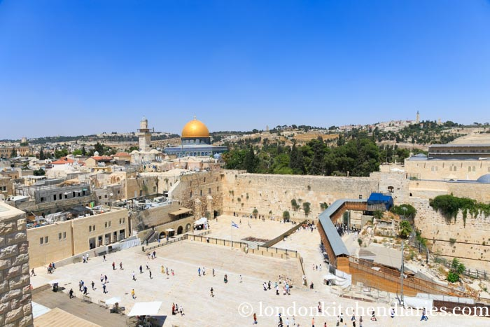 Best view of the Western Wall from Aish Ha Torah Jerusalem