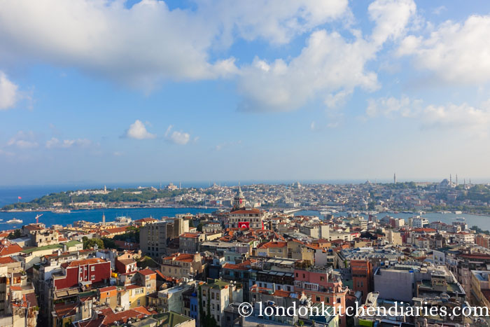 View over Istanbul from Mikla Restaurant Istanbul Turkey