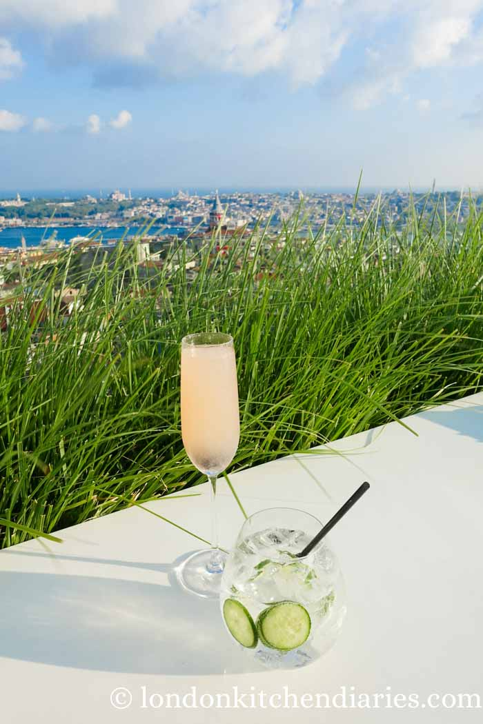Cocktails with a view at Mikla rooftop bar Istanbul
