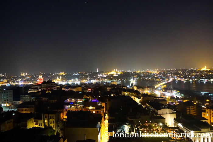 Nighttime panorama over Istanbul from Mikla Restaurant