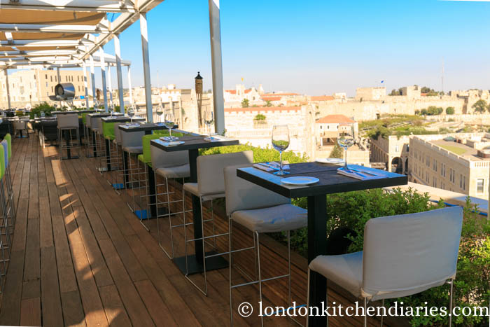 Rooftop Outdoor Lounge & Restaurant at Mamilla Hotel Israel