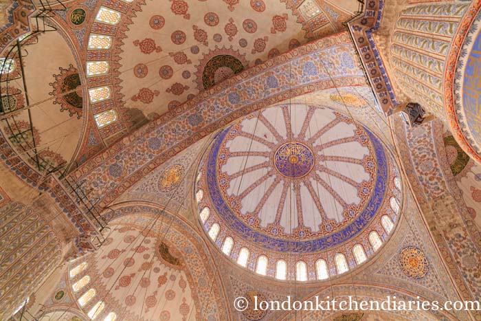 Dome ceilings of the Blue Mosque