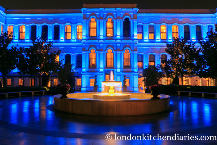 Four Seasons Hotel at the Bosphorus at night
