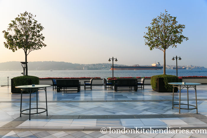 Terrace at Four Seasons Hotel Istanbul at the Bosphorus