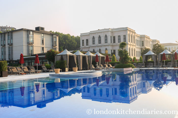 Outdoor pool at Four Seasons Hotel Istanbul at the Bosphorus